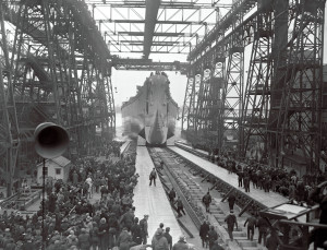 USS New Jersey launch, Dec 7, 1942, Philadelphia